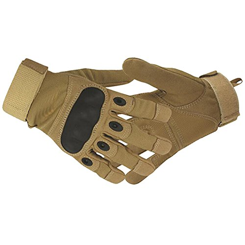 [gloves outdoor full finger army gloves antiskid sports @ SORNBA (SANDCOLOR, XL)] (Soulwalker Costume)