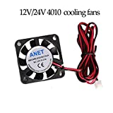 2pcs A6 A8 e10 e12 DC12V/24V Brushless Cooling Fan air Ventilator 40x40 Ultra Quiet Cooler 4010 extruder 3D Printer Parts - (Size: DC24V) (Tamaño: DC24V)