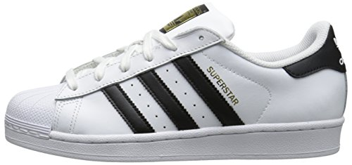 Adidas Originals Women's Superstar Foundation Casual Sneaker, White/Black/White, 6.5 M US