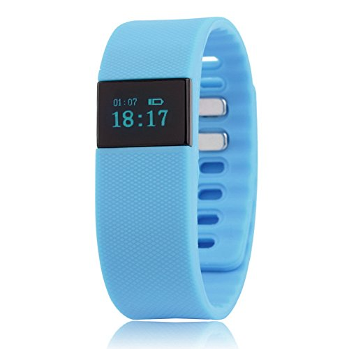 Blue Bluetooth Smartband Smart Watch Wristband Wrist Band Wrap with Pedometer for Android IOS