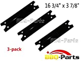 bbq-parts PPG311 (3-pack) BBQ Gas Grill Heat Plate Porcelain Steel Heat Plate, Heat Shield, Heat Tent, Burner Cover, Vaporizor Bar, and Flavorizer Bar for Brinkmann, Charmglow Models Grills, 600-7100-0, BMHP1 (16 3/4