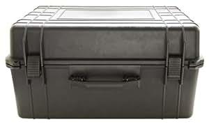 """Duratool 22-17815 Black Weatherproof Tool Box - 24"""" (L) X 16.9"""" (W) X 12.2"""" (H)"""