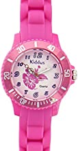 Reloj Sporty deportivo analógico de cuarzo con flor rosa para chica niña con correa de silicona en caja de regalo, Sumergible resistente al agua (5ATM), Mecanismo Seiko, Bateria Sony, ref KI10107