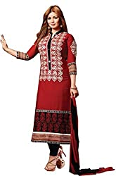 Creative Collection Cotton Embroidered Salwar Suit Dupatta Material (Un-stitched)