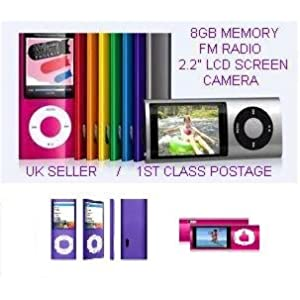 8GB MP4 PLAYER NANO STYLE 4TH GENERATION MP3 PLAYER with FM RADIO and FULL COLOUR LCD SCREEN & 30 PIN IPOD DOCK CONNECTOR – 5 colours (NOT an Ipod Nano) top price