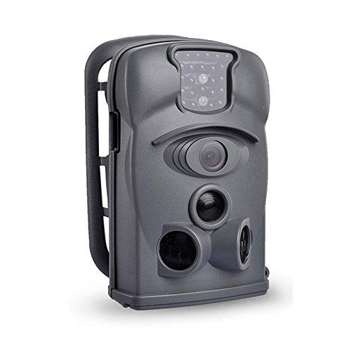 SUNLUXY® Farb-CMOS Wildkamera Infrarot 12 Mega-Pixel 12MP Hunting Camera Wild Überwachungskamera Nachtsicht Funktion 4000 x 3000 Pixel Fotofalle von Maultrie mit 4G SD Karte LCD Bildschirm Jagdzeug Grau