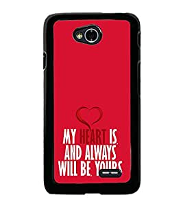 My Heart will Always be Yours 2D Hard Polycarbonate Designer Back Case Cover for LG L70