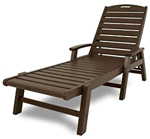 Trex Outdoor Furniture Yacht Club Stackable Chaise Lounger With