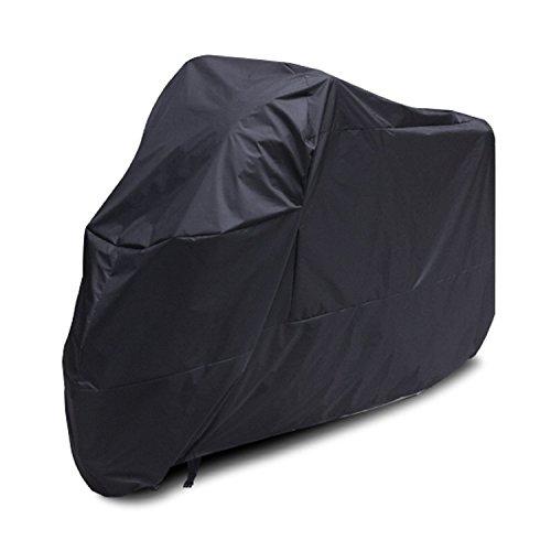 Telo-motocicletta-coprimoto-impermeabile-antipolvere-anti-UV-traspirante-per-esterni-con-sacca-per-il-trasporto-XL-Nero