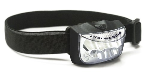 Planet Bike Sport Spot 4 LED Bicycle Light with Head, and Handlebar Mounts