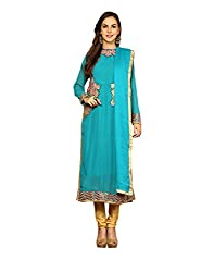 Yepme Vanna Unstitched Suit - Blue -- YPMRTS0081_Free Size