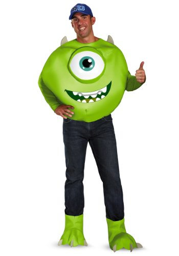 Disguise Mens Deluxe Disney Pixar Monsters University Mike Costume
