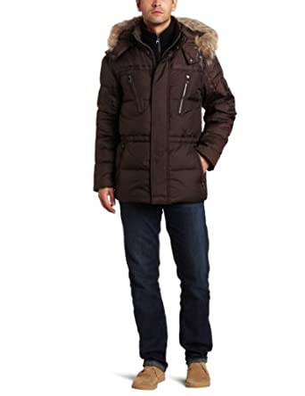 Marc New York By Andrew Marc Men's Hudson 31.5-Inch Down Parka, Espresso, X-Large