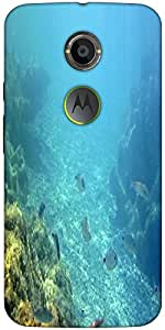 Snoogg Underwater Designer Protective Back Case Cover For Motorola X 2Nd Gene...