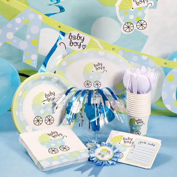 "Blue ""Baby Boy Baby Buggy Baby Carriage Shower Decoration Kit front-48160"