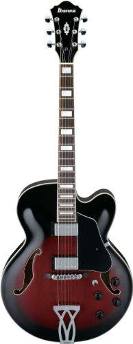 Ibanez Artcore AF Series AF75 Hollow Body Acoustic Electric Guitar - Transparent Red Sunburst