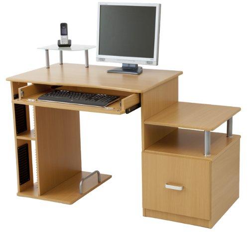 computertische g nstig kaufen computertisch pascal in 3 farben weiss buche ahorn buche. Black Bedroom Furniture Sets. Home Design Ideas