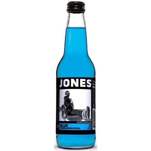 Jones Blue Bubble Gum Soda, 12 Ounce - 4 per pack -- 6 packs per case. (Bubblegum Jones Soda compare prices)