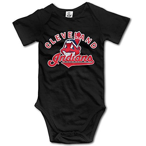 cleveland-baseball-logo-unisex-boys-girls-short-sleeve-bodysuit-snapsuit