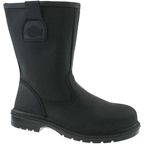 Dickies Dakota Rigger Stivali di sicurezza S3Nero FC9509BK, nero (nero), 39 EU