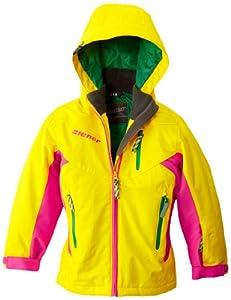 Ziener Annik Aquashield+ Veste de ski fille Cyber Yellow HB FR : 10 ans (Taille Fabricant : 140)