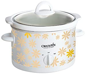 Crock Pot SCR250-DA 2-1 2-Quart Slow Cooker, Yellow Daisy Pattern by Jarden Consumer Solutions