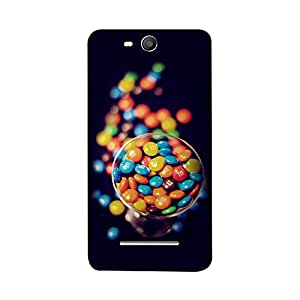 Skintice Designer Back Cover with direct 3D sublimation printing for Micromax Canvas Juice 3 Q392