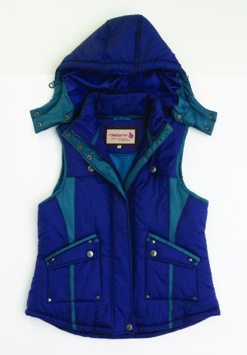Tayberry Beatrice Navy Blue Hooded Ladies Gilet Waistcoat – Size X-Large (Size 18 / 20)