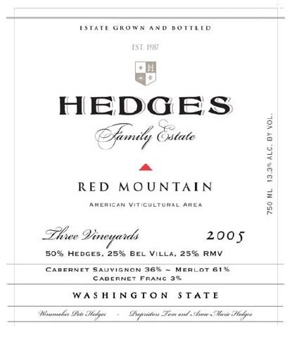 2005 Hedges Family Estate Red Mountain 750 Ml