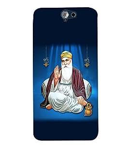 Fuson Premium Guru Nanak Sahab Printed Hard Plastic Back Case Cover for HTC ONE A9