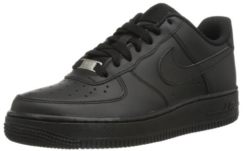 Nike Air Force 1 (Gs) Scarpe da Ginnastica, Black/Black-Black, 7 US