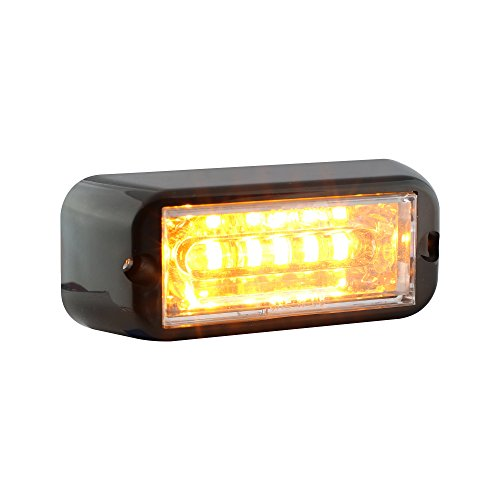 Lamphus Cosmicray 6W Led Emergency Vehicle Deck Grille Strobe Warning Tow Truck Linear Light Head ( Other Color Available ) - Amber