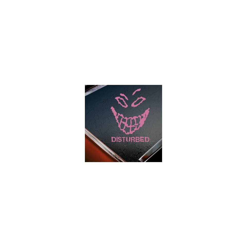 Disturbed Pink Decal Metal Rock Band Truck Window Pink