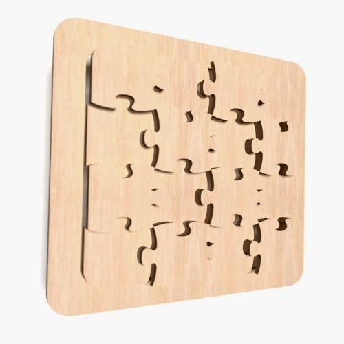 1-x-Holz-Puzzle-Form-plaintags-blanko-Dekoration-unlackiert-Formen-WX61