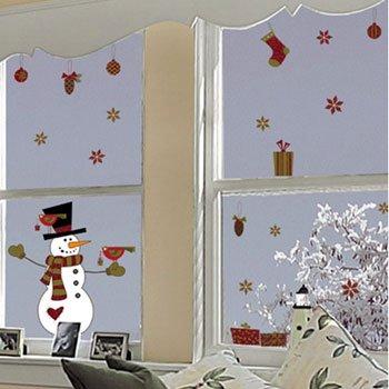 Crearreda Sticker Vetri Pupazzo Di Neve