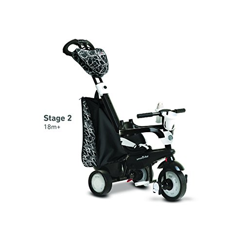 Smart Trike 810-5500, Triciclo per bambini 4 in 1, colore: Nero/Bianco