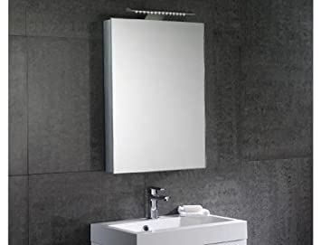 Orca 50cm Slimline Mirror Cabinet (Left Hinged Door)