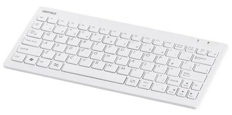バッファローコクヨサプライ iBUFFALO 無線キーボード Bluetooth2.0 パンタグラフ 83キー ホワイト BSKBB01WH