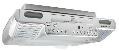 karcher ka 1015 unterbau k chenradio mit cd player silber uhrenradio. Black Bedroom Furniture Sets. Home Design Ideas