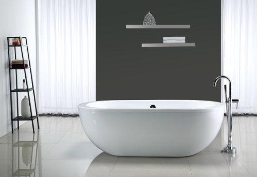 Big save ove serenity 71 inch freestanding acrylic for Best acrylic tub