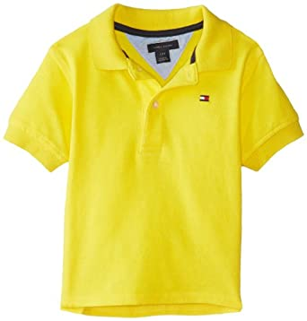 Tommy Hilfiger Baby-Boys Infant Short Sleeve Ivy Polo, Bright Sun, 12 Months