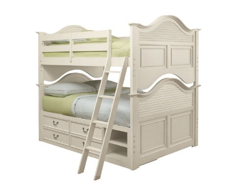 Inspirational Retreat Antique White Full over Full Bunk Bed w Storage