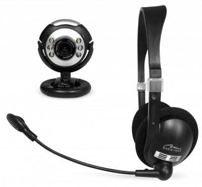 Media-Tech Mt4024 Communication Duo Webcam/Headset With Microphone