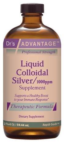 Liquid Colloidal Silver 1000 ppm 2 oz by Drs Advantage