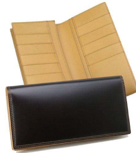【日本製】コードバン長財布(小銭入れなし) 切れ目仕上げ ダークブラウン 04014799