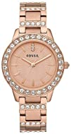 Fossil Jesse Three Hand Stainless Steel Watch  Rose Es3020