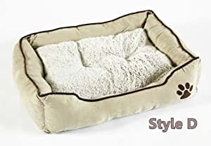 BUNNY BUSINESS Luxury Super Soft Dog Beds Faux Suede, Extra Large, 42-inch, Cream