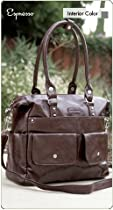 Hot Sale Namaste Harlow Handbag Shoulder Bag Espresso Brown Vegan Purse Tote