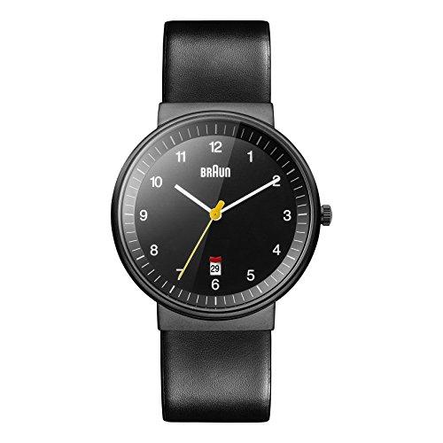 Braun Men's BN0032BKBKG Classic Analog Display Quartz Black Watch (Braun Quartz Watch compare prices)