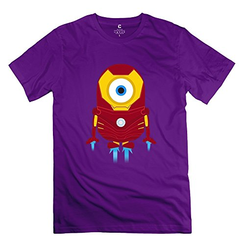 ZHUYOUDAO Men's the Avengers Tony Stark Iron Man Despicable Me Minions T-Shirt